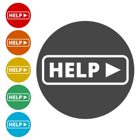Help sing, Help icon Illustration