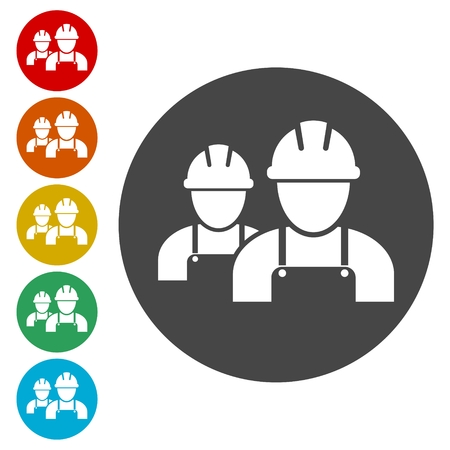 Contractor Icon, Workers icon