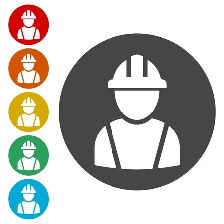 Contractor Icon, Workers icon Vetores