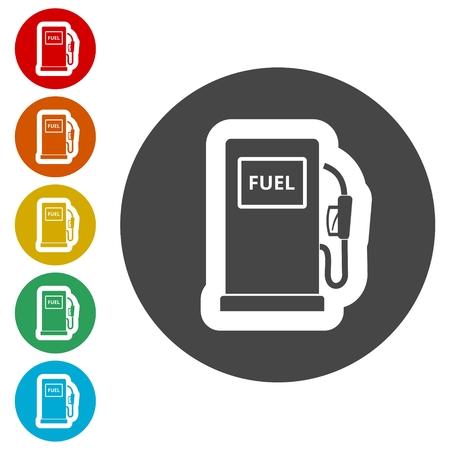 Gas pump icon, Gasoline and diesel fuel symbol Stock Vector - 116307444
