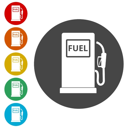 Gas pump icon, Gasoline and diesel fuel symbol Stock Vector - 116554848