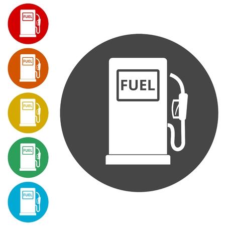 Gas pump icon, Gasoline and diesel fuel symbol