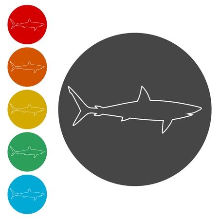 Shark sign, Shark icon
