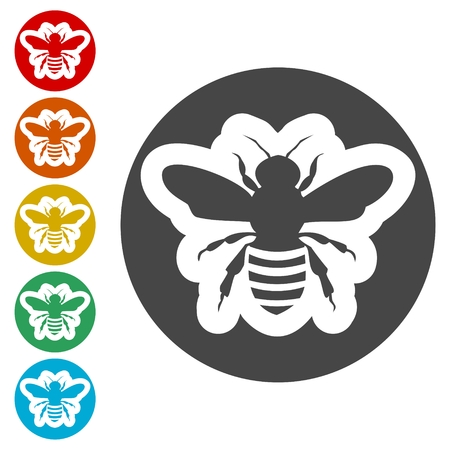 Biene Silhouette Symbol