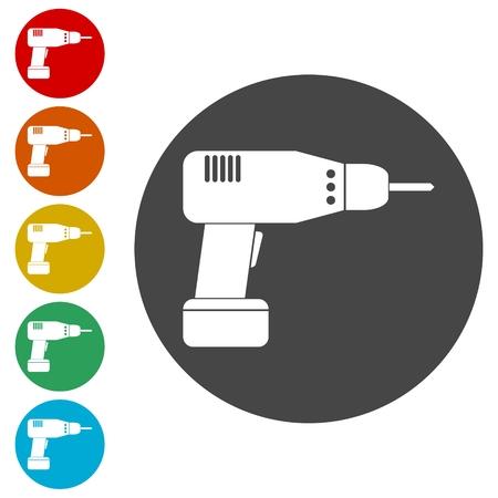 Drill icon, Electric Drill flat icon