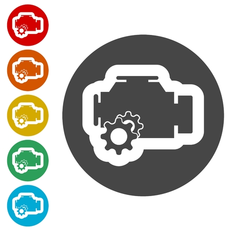 Electric motor icon Иллюстрация