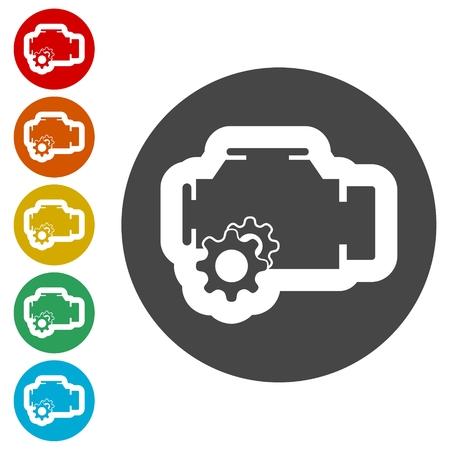 Electric motor icon Illustration