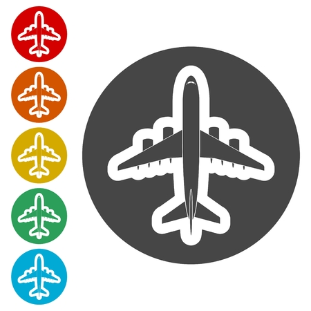 Plane icon, Airplane symbol