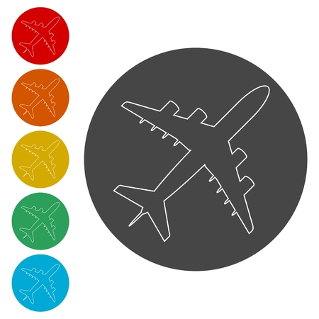 Plane icon, Airplane symbol
