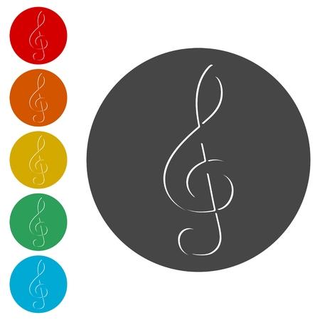 Treble Clef icon, Musical key