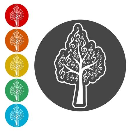 Treble Clef icon, Musical key, Musical tree