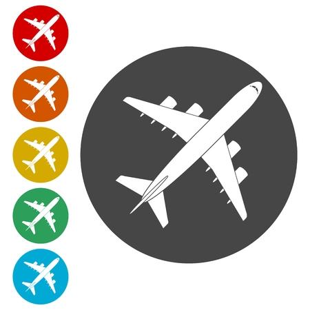 Icône d'avion, symbole d'avion Vecteurs
