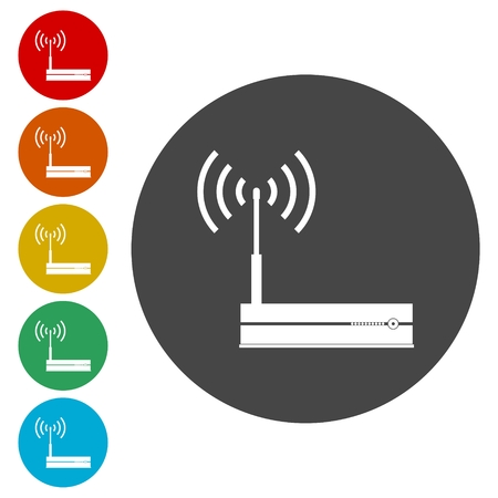 Router icon, Modem router