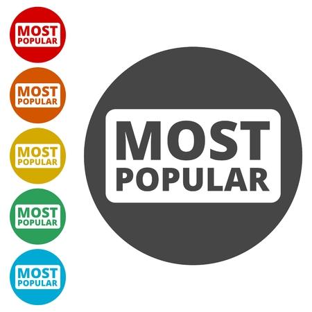 Vector Most Popular Sign