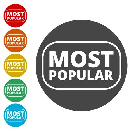 Vector Most Popular Sign Vektorgrafik