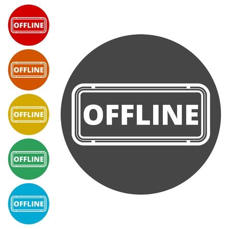 Offline sign, icon, button