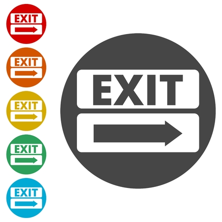 Fire exit sign, Emergency exit