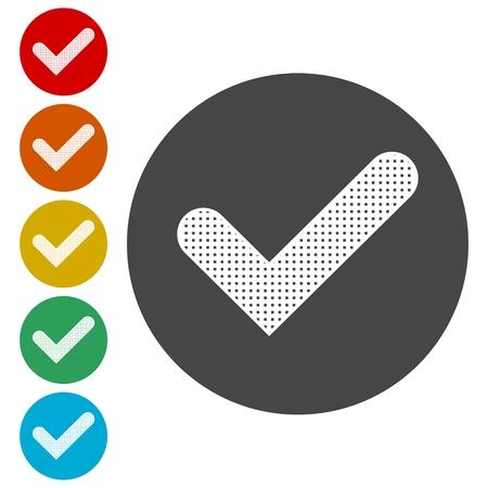 Checkmark Icon, Check mark icon - vector
