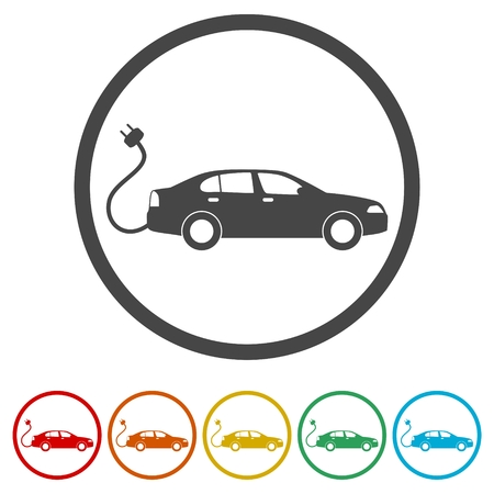 Electric Vehicle Charging Station sign, 6 Colors Included