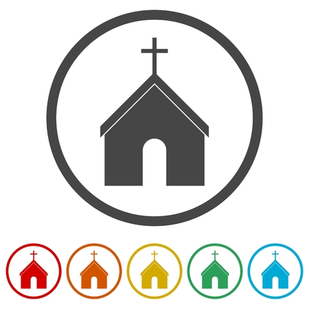 Symbol Church Building, 6 Colors Included
