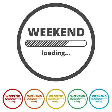 Loading Weekend, Weekend Loading Concept, 6 Colors Included Archivio Fotografico - 116824484