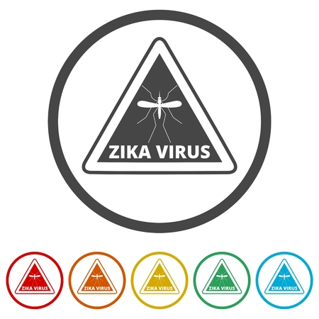 Zika virus alert, 6 Colors Included Illustration