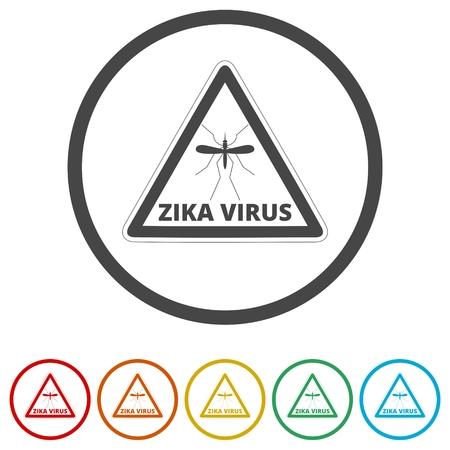Zika virus alert, 6 Colors Included Illustration