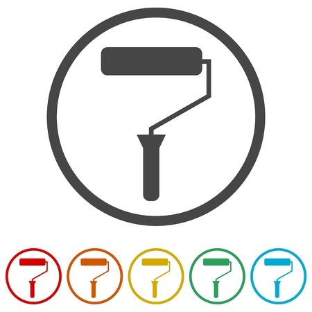 Paint brush icon, 6 Colors Included