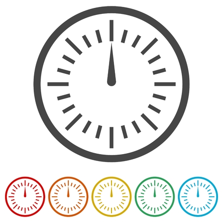 Pressure gauge icon, 6 Colors Included