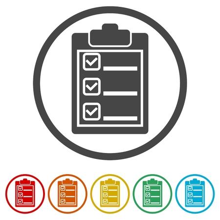 Checklist Icon, 6 Colors Included 矢量图像