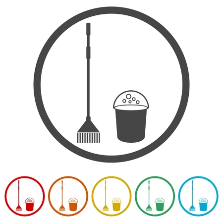 Cleaning Icons set, Cleaning Icon, 6 Colors Included