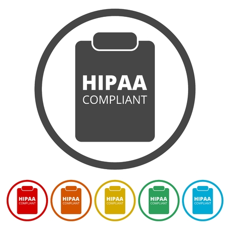HIPAA Compliance Icon, 6 Colors Included