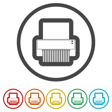 Paper Shredder icon, 6 Colors Included Иллюстрация