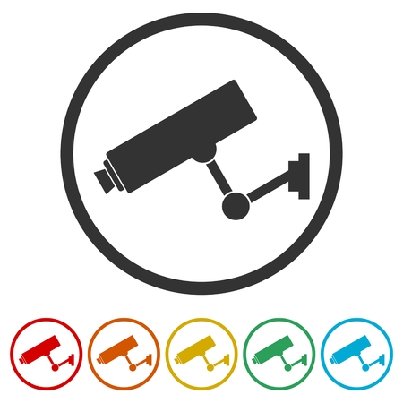 Security camera icon, 6 Colors Included