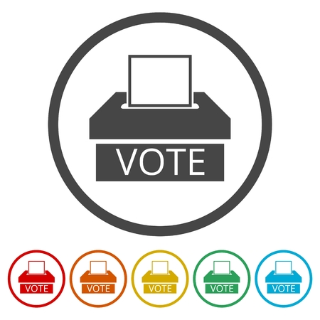 Voting concept, Vote concept icon, 6 Colors Included