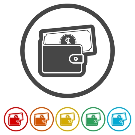 Wallet icon, 6 Colors Included