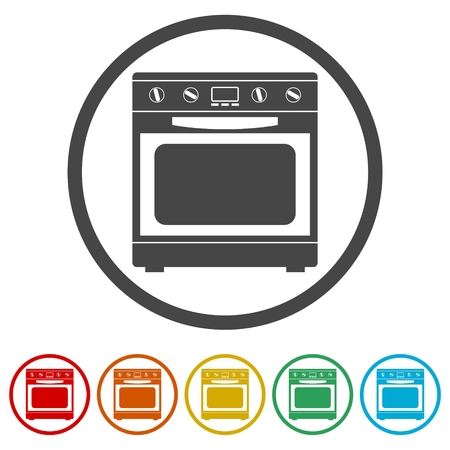 Oven Icon, Stove Icon, 6 Colors Included
