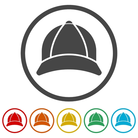 Cap Icon - Illustration, 6 Colors Included