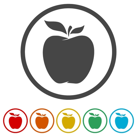 Apple icon, 6 Colors Included 矢量图像