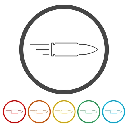 Bullet Icon, 6 Colors Included