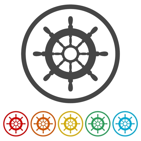 Steering wheel of the ship, Ship wheel, 6 Colors Included