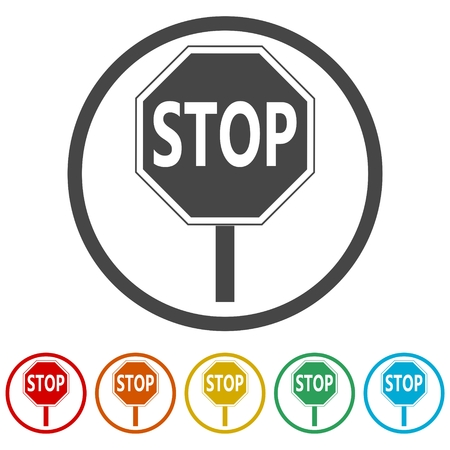 Traffic sign, Stop Sign, 6 Colors Included