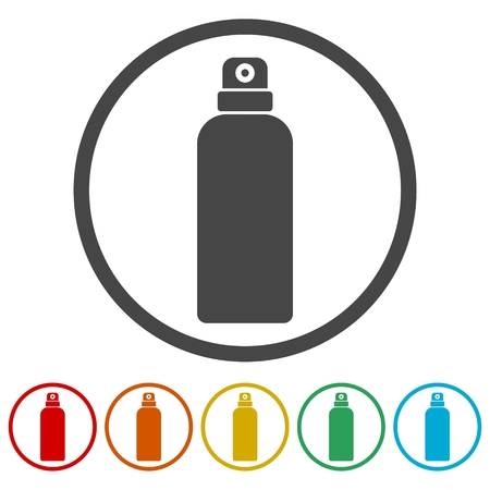 Spray icon, 6 Colors Included Illustration