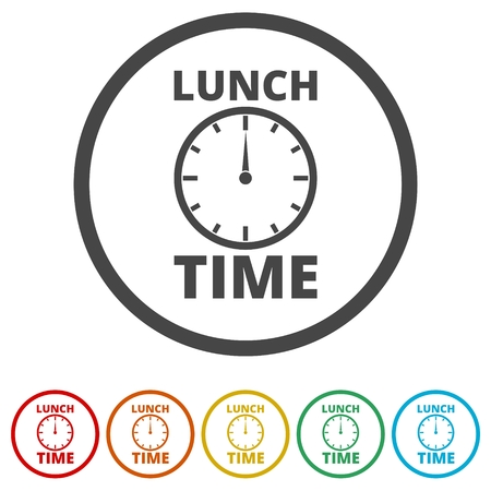 Time is money, Time Out icon, 6 Colors Included