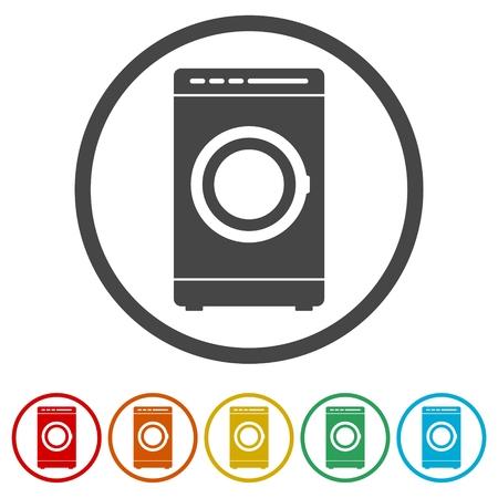 Waschmaschinensymbol, 6 Farben enthalten