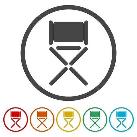 Director chair - vector icon, 6 Colors Included