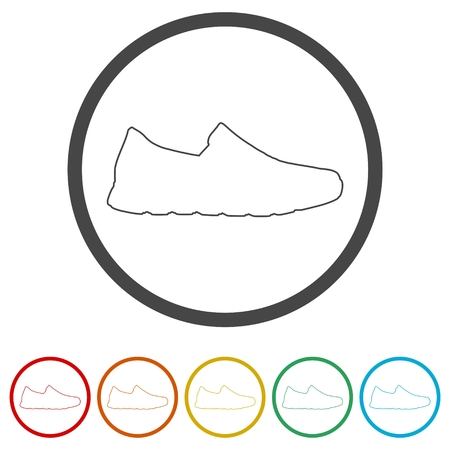 Sport shoe icon, 6 Colors Included