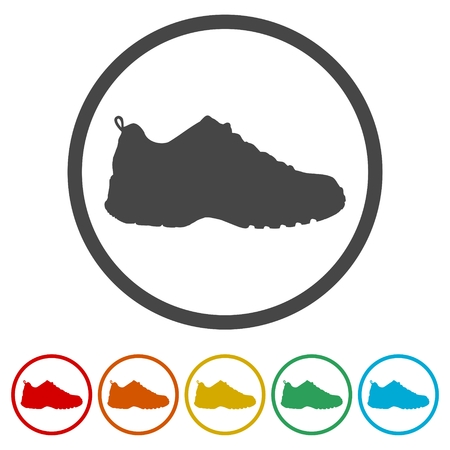 Sport shoe icon, 6 Colors Included 写真素材 - 119695168