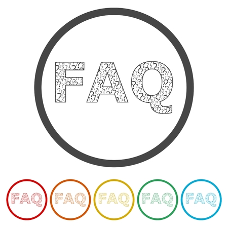 Frequently Asked Questions, FAQ icon, 6 Colors Included
