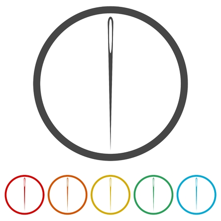 Needle icon, Thread and needle icon, 6 Colors Included